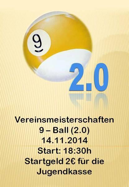 Vereinsmeisterschaft 9-Ball 2014